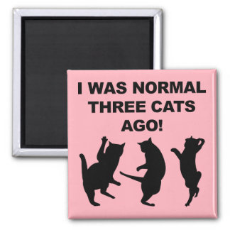 Normal Three Cats Ago Funny Fridge Magnet