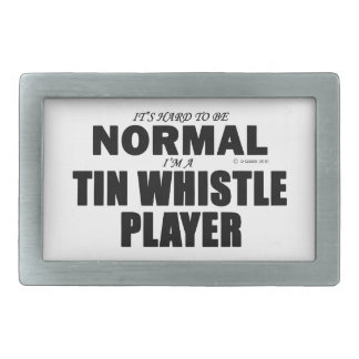 Normal Tin Whistle Player Rectangular Belt Buckle