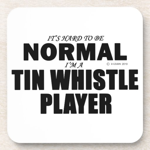 Normal Tin Whistle Player Coasters