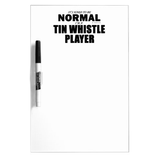 Normal Tin Whistle Player Dry Erase Whiteboards