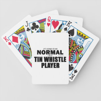 Normal Tin Whistle Player Poker Deck