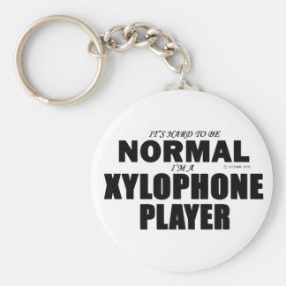 Normal Xylophone Player Basic Round Button Key Ring
