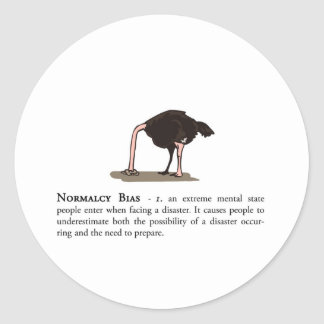 Normalcy Bias Classic Round Sticker