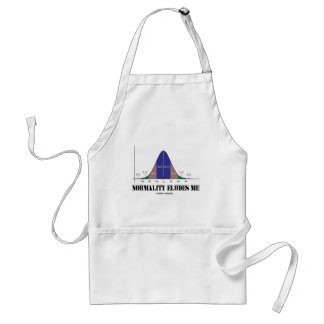 Normality Eludes Me Bell Curve Humor Apron