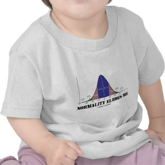 Normality Eludes Me (Bell Curve Humor) T Shirts