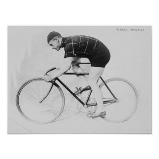 Norman Anderson Side View of Racing Bicycle Poster