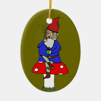 Norman Gnome Ceramic Ornament