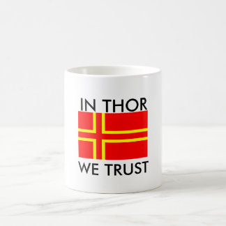norman holy flag olaf, In Thor We Trust Coffee Mug