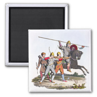 Norman Knight and Archers, 1066, from 'Ancient Arm Magnet