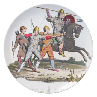 Norman Knight and Archers, 1066, from 'Ancient Arm Plate