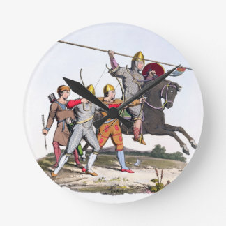 Norman Knight and Archers, 1066, from 'Ancient Arm Round Clock