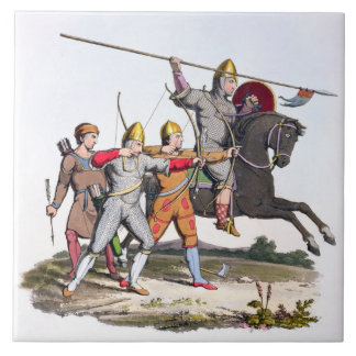 Norman Knight and Archers, 1066, from 'Ancient Arm Tile