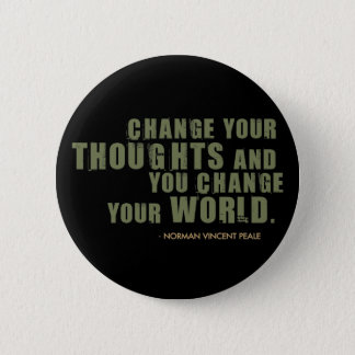 Norman Vincent Peale Quote 6 Cm Round Badge