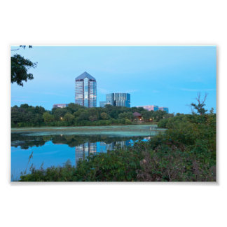 Normandale Lake and Buildings Photo Print