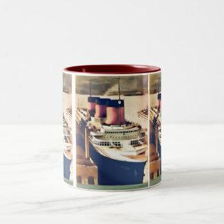 Normandie at NYC Two-Tone Coffee Mug