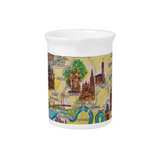 Normandie old map pitcher