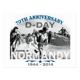 Normandy 70th D-Day Anniversary Postcard