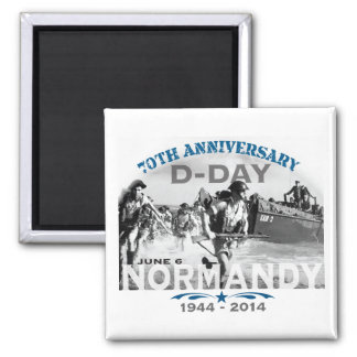 Normandy 70th D-Day Anniversary Square Magnet