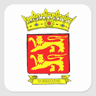 NORMANDY BLAZON SQUARE STICKER