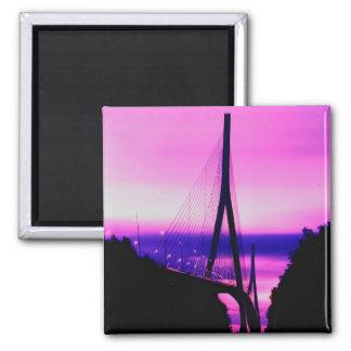 Normandy Bridge, Le Havre, France 2 Magnet