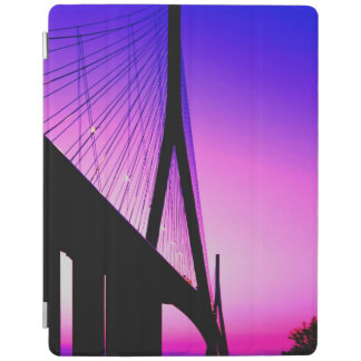 Normandy Bridge, Le Havre, France iPad Cover