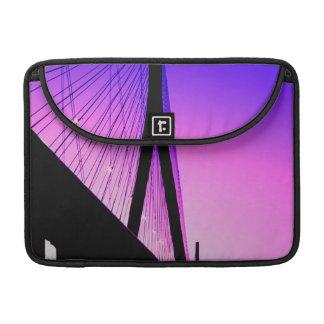 Normandy Bridge, Le Havre, France Sleeves For MacBook Pro