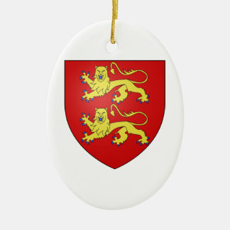 Normandy (France) Coat of Arms Ceramic Oval Decoration