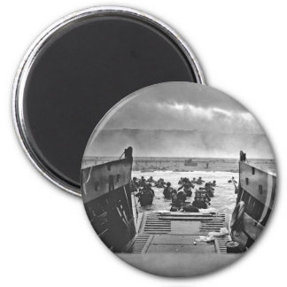 Normandy Invasion at D-Day - 1944 6 Cm Round Magnet
