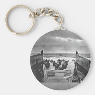 Normandy Invasion at D-Day - 1944 Basic Round Button Key Ring