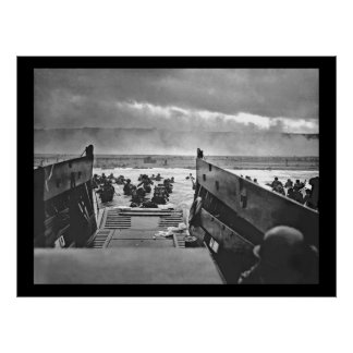 Normandy Invasion at D-Day - 1944 Poster