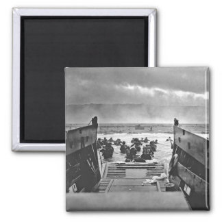 Normandy Invasion at D-Day - 1944 Square Magnet