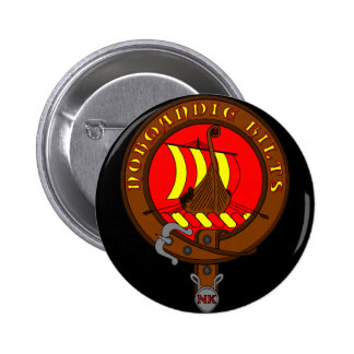 Normandy Kilts swipes in 6 Cm Round Badge