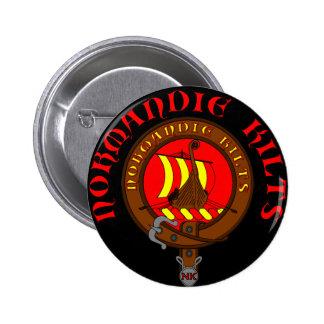 Normandy Kilts swipes in Pinback Button