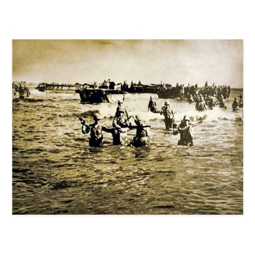 Normandy Landings Post Card