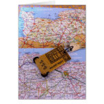 Normandy Map Note Card