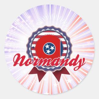 Normandy, TN Round Sticker