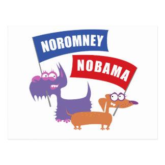 Noromney, nobama! postcard