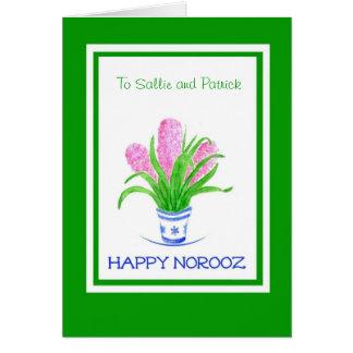 Norooz Customizable Greeting Card - Hyacinths