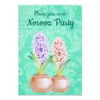Norooz party Hyacinth emerald green Card