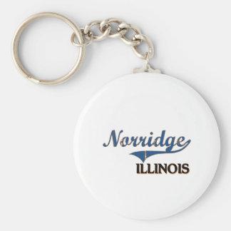 Norridge Illinois City Classic Basic Round Button Key Ring