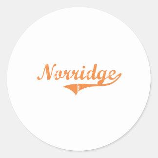 Norridge Illinois Classic Design Round Sticker