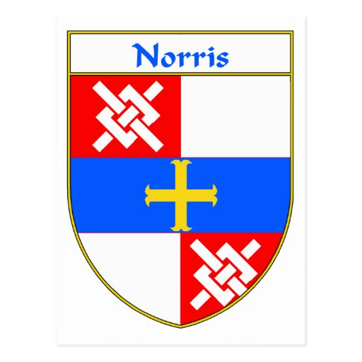 Norris Coat of Arms/Family Crest Postcard