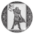 Norse God Thor Plate