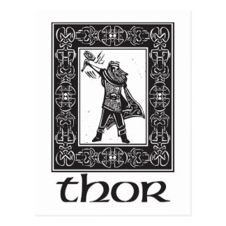 Norse God Thor Postcard