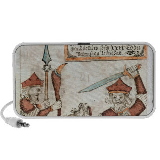 Norse god Tyr losing his hand to the bound wolf iPhone Speaker