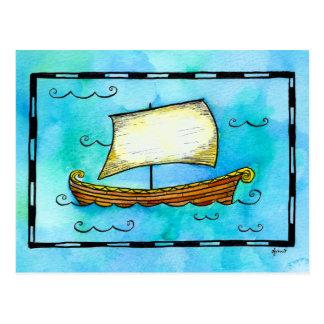 Norse Sailing Ship Postcard