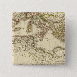 North Africa, Mediterranean Sea 15 Cm Square Badge