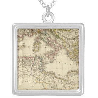North Africa, Mediterranean Sea Silver Plated Necklace