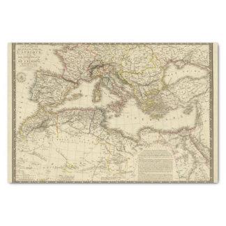North Africa, Mediterranean Sea Tissue Paper