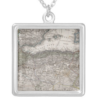 North Africa Region Map Silver Plated Necklace